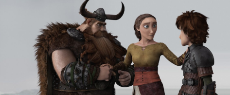 Hiccup's mum and dad are reunited in the film, and immediately you know it'll end badly